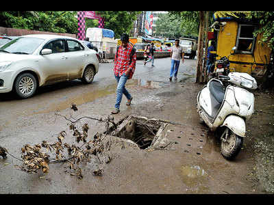 Broken manholes in Fatima Nagar ignored