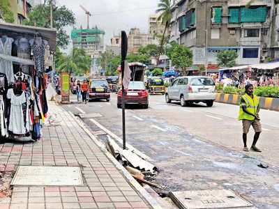 Bandra gets its own freeway: Relief for pedestrians as 200 unauthorised hawkers and vehicles cleared