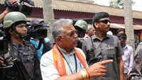 West Bengal BJP state president Dilip Ghosh allegedly attacked by miscreants during morning walk
