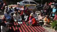 Jaipur: Members of Disability Jan Kranti Sena stage dharna