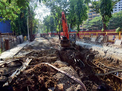 One of BMC's best laid roads goes down the drain