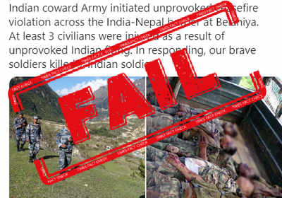 Fake alert: Old unrelated images used to falsely claim Nepal killed 7 Indian soldiers at border