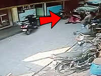 On cam: Miraculous escape for Mangaluru woman and her toddler after jeep hits them