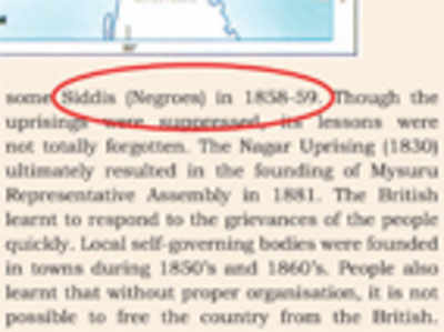 State govt refers to Siddis as 'Negroes' in K'taka handbook