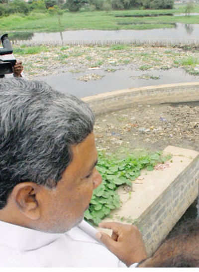 CM visits Agara Lake after Mirror report