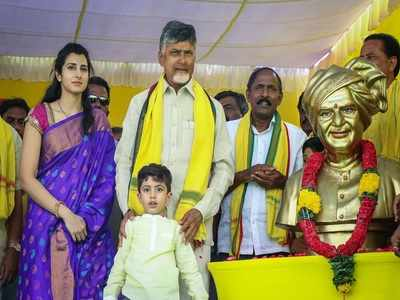 Mangalagiri: Nara Brahmani, Devansh add colour to Lokesh election campaign