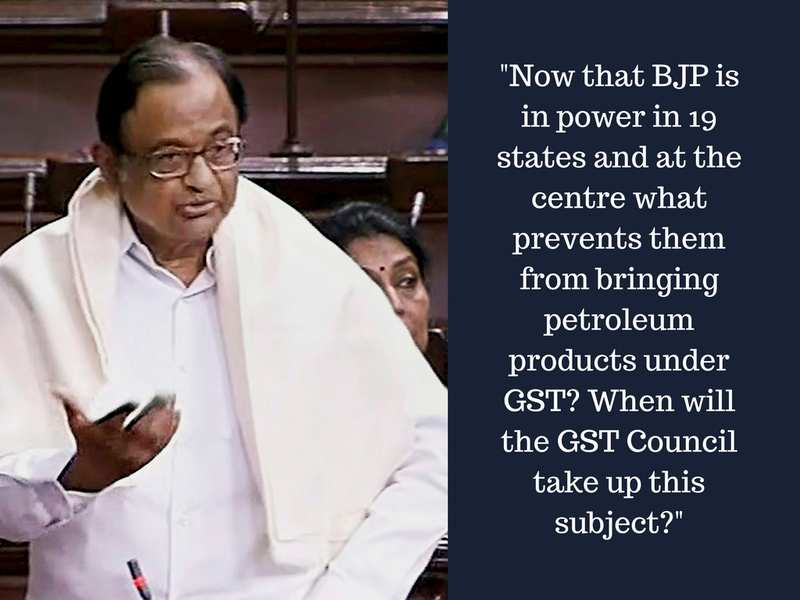 Here's what Arun Jaitley responded to P Chidambaram's question on bringing petroleum under GST