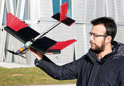 A drone that can fly like a bird and negotiate streets