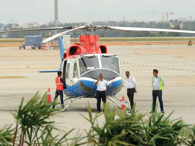 Heli-taxi between KIA and Electronics City launched; reduces commute to 15 min