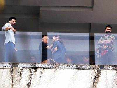 Before lockdown, Alia Bhatt, Aditya Roy Kapur and Mahesh Bhatt spotted during a film shoot