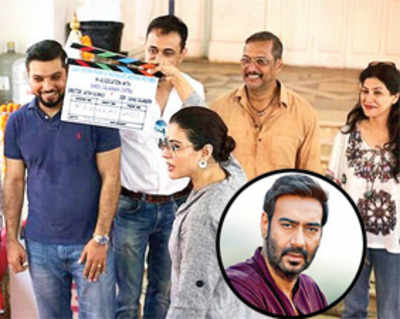 Kajol gives the clap for Ajay Devgn and Nana Patekar's first Marathi production