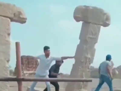 Four youths vandalise ancient pillars at world heritage site, arrested