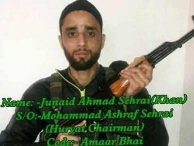 Tehreek-e-Hurriyat Chairman Mohammad Ashraf Sehrai's son Junaid joins terror group Hizbul Mujahideen