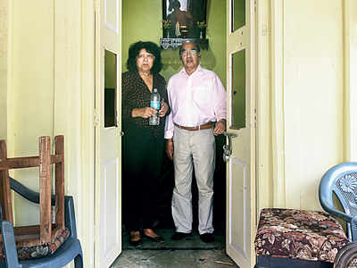 Bandra: Senior citizen couple Russell and Winifred Pereira finally get to enter their home