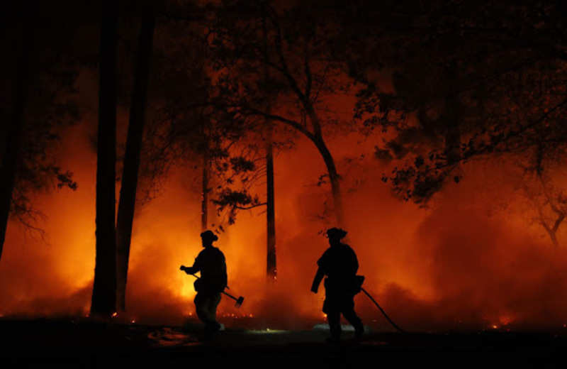 Woolsey Fire burns down California