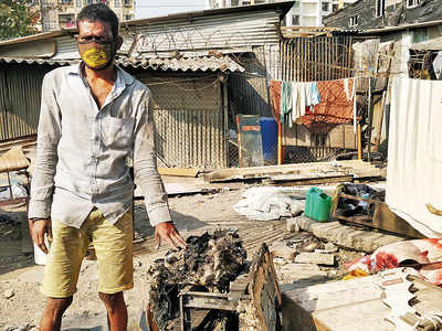 Rendered homeless by fire, families who lost everything await help from authorities