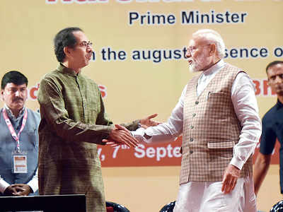 On stage with Modi, Uddhav says alliance is inevitable