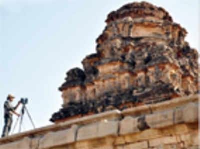 ASI starts 3-D laser scanning at Hampi's Vittala temple
