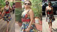 Malaika Arora makes heads turn in a floral dress