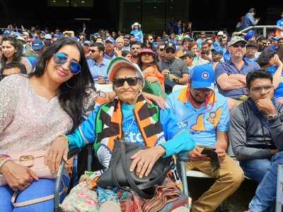 SL vs India: Superfan Charulata Patel cheers for India in crucial CWC'19 match