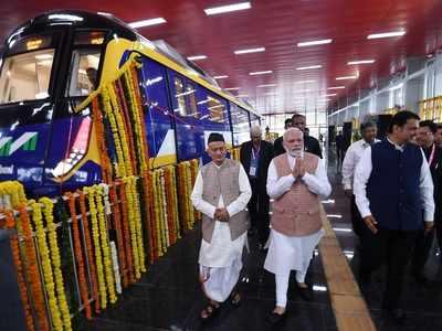 PM Modi launches three more metro lines in Mumbai