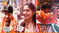 Sapna Chaudhary joins BJP roadshow, campaigns for Manoj Tiwari in Delhi