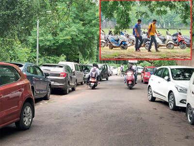 Students seek 4-wheeler parking, Ahmedabad varsity says, 'no way'