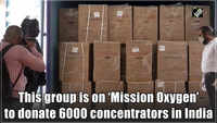 This group is on 'Mission Oxygen' to donate 6000 concentrators in India