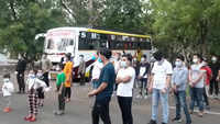 Nagpur: 30 Nepalese migrant workers leave for their native villages