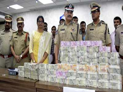 Hyderabad police seize Rs 3.3 crore in cash
