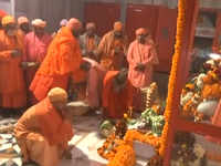 Yogi Adityanath offers prayers at Gorakhnath temple on Makar Sankranti