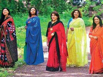 How women in the city are finding support system across the globe through a group that celebrates the saree