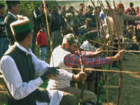 Tribal men in Shimla aim arrow at each other's legs in unique festival