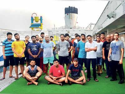 42 sailors stuck on ship off city coast send an SOS