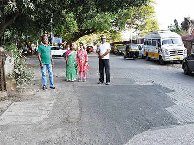 Bibwewadi citizens demand audit of road repaired thrice in past 1month