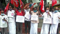 Trade unions protest against dilution of labour laws in Coimbatore