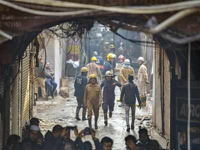 Anaj Mandi fire: Another blaze in same Delhi building where 43 people died on Sunday