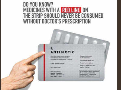 Why do some medicines and antibiotics have a red line on them?