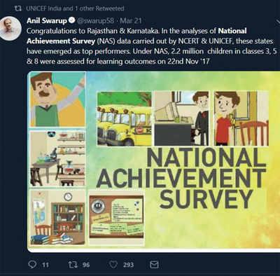 Karnataka wants NAS '17 results to be revealed