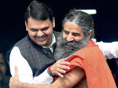 Fadnavis bends over backwards to help Ramdev