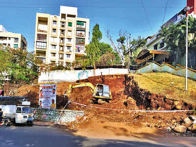 Hill excavated to make way for approach road