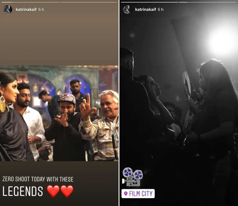 Katrina Kaif teases fans from the pictures of Zero's shoot