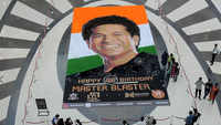 Navi Mumbai: Unique artwork on master blaster Sachin Tendulkar's 46th birthday at Seawoods Grand Central Mall