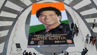 Navi Mumbai: Unique artwork on master blaster Sachin Tendulkar's 46th birthday at Seawoods Grand Central Mall