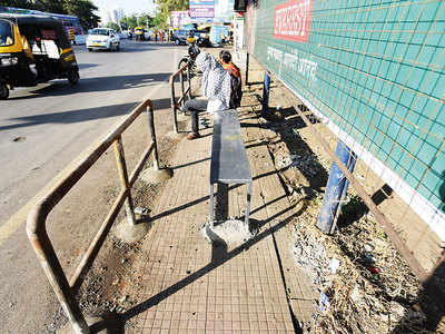PMPML installs seating at Kondhwa bus stands