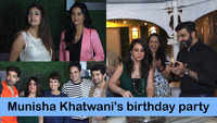 Juhi Parmar, Gurmeet Choudhary, Karan Mehra and others at Munisha Khatwani's birthday party