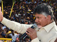 Chandrababu Naidu calls Jagan, KCR 'pet dogs of Modi'