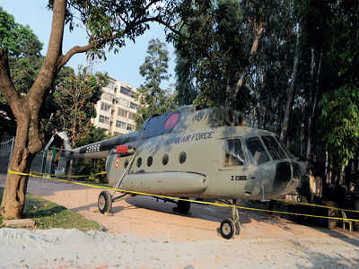 When the Mi-8 landed on Bengaluru's roads