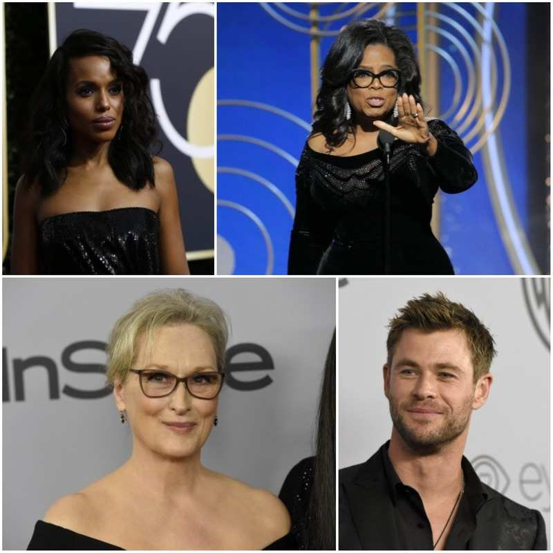 75th Golden Globe Awards: From Meryl Streep, Oprah Winfrey to Nicole Kidman and Angelina Jolie, the red carpet dominated by black in protest of sexual harassment