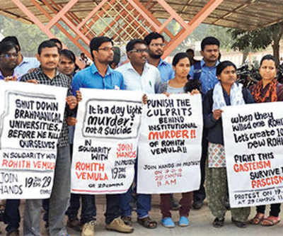 Dalit students stage silent protest